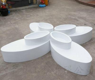 玻璃钢 商用座椅 花盆两用拼接组合花盆坐凳