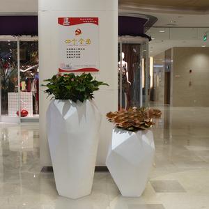 钻石花盆 宝石花钵 石头花器 玻璃钢花盆厂家