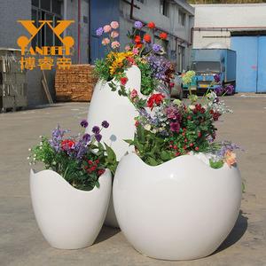 玻璃钢蛋壳花盆