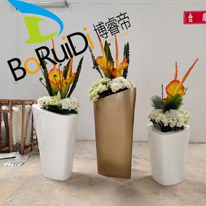 玻璃钢花盆 异形创意花盆花盆组合 斜口花盆