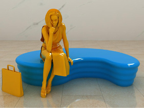 玻璃钢_玻璃钢商场美陈_玻璃钢雕塑