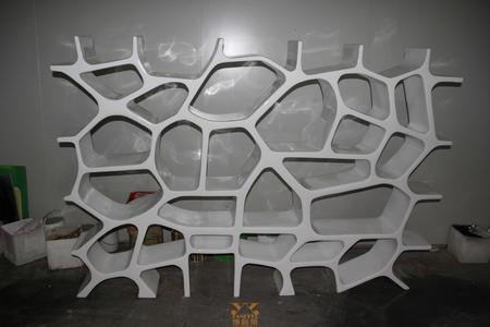 玻璃钢装饰 异形装饰墙书架 屏风 隔墙