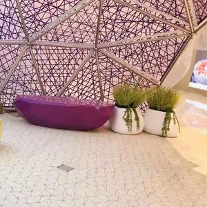 玻璃钢休闲椅 深圳定制商场休息坐凳 菱形多面凳